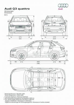Габаритные размеры Audi Q3